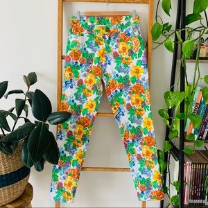 Jimmy Jean Colourful Floral Stretchy Jean Pants